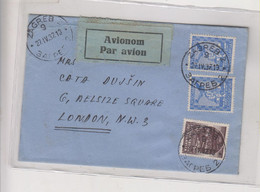 YUGOSLAVIA 1937 ZAGREB Nice Airmail Cover To Great Britain - Brieven En Documenten