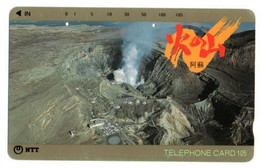 Volcan Volcano Cratère Montagne Mountain Télécarte Phonecard Japon (T 68) - Montagne