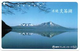Volcan Volcano Cratère Montagne Mountain Télécarte Phonecard Japon (T 71) - Montagne