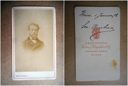 PHOTO CDV 19 EME 1872 MR BUCHER HOMME CHIC BARBE MODE  Cabinet TOURTIN A PARIS - Old (before 1900)