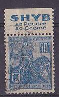 BANDE PUB  OBLITEREE 50 C  JEANNE D'ARC  TYPE II SHYB SA POUDRE SA CREME - Advertising