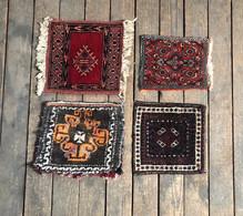 TAPIJTEN: 4 Kleine Tapijtjes/kussens/ Tasjes - Rugs, Carpets & Tapestry