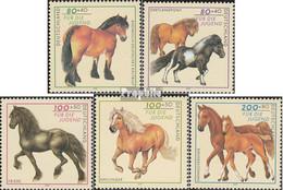 BRD 1920-1924 (kompl.Ausg.) Ersttagsblatt 1997 Jugend: Pferderassen - FDC: Feuilles