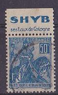 BANDE PUB  OBLITEREE 50 C  JEANNE D'ARC  TYPE II SHYB SES EAUX DE COLOGNE - Advertising