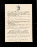 Juliaan Huys Wed Appolonia Brossé O Eke 1861 + Eke 1941 - Devotieprenten