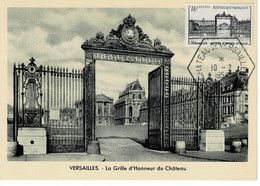 CM FRANCE  1954  VERSAILLES ENTREE D'APRES UTRILLO - 1950-59