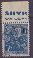 BANDE PUB  OBLITEREE 50 C  JEANNE D'ARC  TYPE II SHYB SON SAVON - Advertising