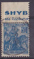 BANDE PUB  OBLITEREE 50 C  JEANNE D'ARC  TYPE II SHYB SES PARFUMS - Advertising