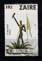 Ref 1463  - Zaire Congo 1983 - 10z - Used Stamp SG 1162 - Kinshasha Monuments - The Militant - 1980-89: Oblitérés