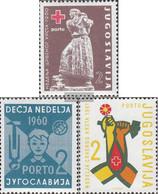 Yugoslavia Zp20,Zp21,Zp22A (complete Issue) Unmounted Mint / Never Hinged 1960 Zwangszuschlagsportomarke - Neufs