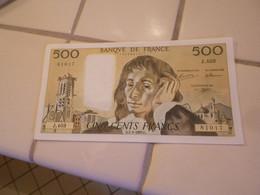FRANCE   1993  -  500  FRANCS  BILLET  A / UNC - NEUF - 500 F 1968-1993 ''Pascal''