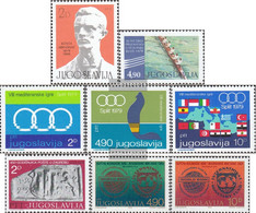 Yugoslavia 1794,1795,1796-1798, 1799,1802-1803 (complete Issue) Unmounted Mint / Never Hinged 1979 Rowing, Sports, Post, - Neufs