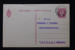 NORVÈGE - Entier Postal De  Kristiana En 1913 Pour Cothen - L 88272 - Postal Stationery