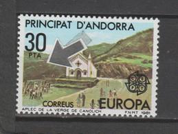 ANDORRA CORREO ESPAÑOL SELLO  CON UN UNTO ROJO ROJO  (S.2) - Used Stamps