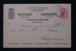 FINLANDE - Entier Postal Voyagé En 1893 ( Administration Russe )  - L 88277 - Postal Stationery