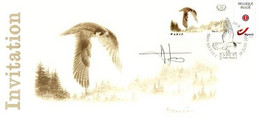 A.BUZIN    INVITATION  METTET FAUCON PELERIN CACHET 30-07-2018 - 1985-.. Birds (Buzin)