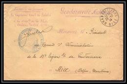 2954 Lettre France Guerre 1914/1918 2ème Armée De Détachement De Police Mobile Prévoté Gendarmerie Grandvillier Oise - Guerra Del 1914-18