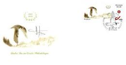 A.BUZIN    ENVELOPPE   METTET FAUCON PELERIN CACHET 30-07-2018 - 1985-.. Birds (Buzin)
