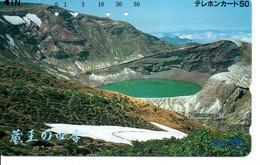 Volcan Volcano Cratère Montagne Mountain Télécarte Phonecard Japon (T 73) - Montagne