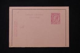 BELGIQUE - Entier Postal ( Carte Lettre ) Type Léopold II, Non Circulé - L 88289 - Cartas-Letras