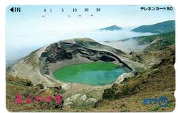 Volcan Volcano Cratère Montagne Mountain Télécarte Phonecard Japon (T 76) - Montagne