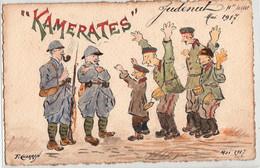 JUDENUT MAI 1917-KAMERATES-CARTE ILLUSTREE PAR P.CHARRIN - Zonder Classificatie