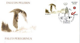 A.BUZIN    ENVELOPPE   FAUCON PELERIN  CACHET METTET30-06-2018 - 1985-.. Pájaros (Buzin)