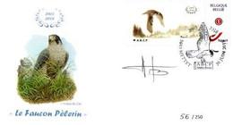 A.BUZIN    ENVELOPPE   FAUCON PELERIN  CACHET METTET30-06-2018 - 1985-.. Birds (Buzin)