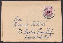 """MiNr. 439, EF, Vordruckbrief """"Strafvollzugsanstalt Brandenburg"""", 10.3.55, Sehr Seltenes Zeitdokument!! - Covers & Documents"""