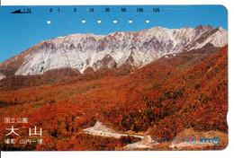 Montagne Mountain Télécarte Phonecard Japon (T 79) - Montagne