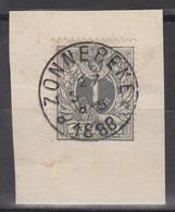 N° 43 SUR FRAGMENT OBLITERATION DU RELAIS DE ZONNEBEKE - 1869-1888 Leone Coricato