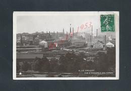 LE CREUSOT CARTE PHOTO VUE D ENSEMBLE DES FORGES POUR LAURAIN OB JOIGNY YONNE 1908 : - Le Creusot