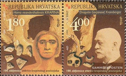 Croatia 517-518 Couple (complete Issue) Unmounted Mint / Never Hinged 1999 Neandertaler Fossils - Croazia