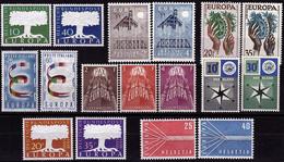 1957- Europa CEPT - Année Complète - 8 Pays, 17 Valeurs  ** - 1957