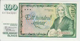 Iceland 100 Kronur 1961 Pick 50 UNC - Iceland