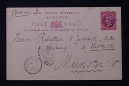 GIBRALTAR - Entier Postal Pour L 'Allemagne En 1890 - L 88316 - Gibraltar
