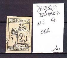 FRANCE COLONIE DIEGO SUAREZ N° 9 - Used Stamps