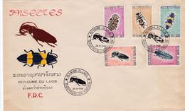LAOS : FDC : Série Insectes Coléoptères CaD Royaume Du Laos Du 28 8 1968 - Laos