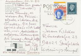 NIEDERLANDE 30.4.1980 Alte (Juliana) + Neue Königin (Beatrix) Zusammen Auf Kab.-Postkarte - Briefe U. Dokumente