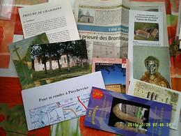 LIMOUSIN HISTOIRE ABBAYE ORDRE GRANDMONT LOT PAPIERS DOCUMENTS CARTES POSTALES Bronzeaux Grammont Envoi DEWOST Genouilly - Limousin