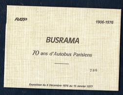 RATP - BUSRAMA - 70 Ans D'Autobus Parisiens - Lot De 6 Cartes - 1906-1976 Pré-timbrées - Other