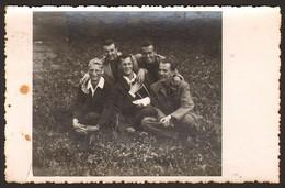 Group Men Guys Portrait GAY INT Old Photo 14x9 Cm #24079 - Anonyme Personen