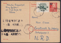 P 43 A, Bedarf Mit Zusatzfrakatur Aus Polen Retour, Beförderungsspuren - Postales - Usados