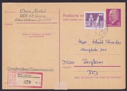 P 78 F, Bedarf Per Einschreiben, Pass. Zusatzfrankatur - Postales - Usados