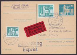 P 80, Bedarfs-Eilboten Nach Frankreich, Pass. Zusatzfrankatur, Ankunft - Postales - Usados