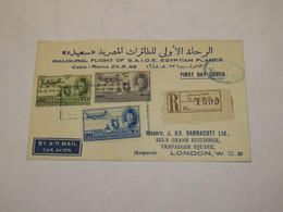 Egypt First Flight Cover To Italy Cairo - Rome 1948 - Unclassified