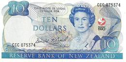 NEW ZEALAND $10 JAMES COOK WMK COMMEMORATIVE WAITANGI TREATY HEAD OF QEII BIRD FRONT  1990 P. 176  READ DESCRIPTION!!!!! - New Zealand