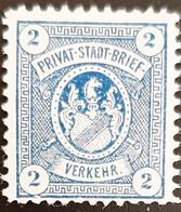 Germany Stadtpost/Privatpost Augsburg 2 Pfg 1896 Unused No Gum Michel 1 - Sello Particular