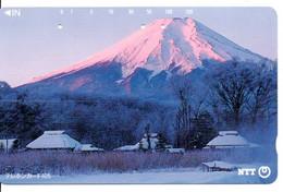 Montagne Mountain Télécarte Phonecard Japon (T 84) - Montagne