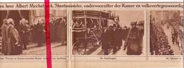 Orig. Knipsel Coupure Tijdschrift Magazine - Gent - Begrafenis Albert Mechelynck , Minister Van Staat - 1924 - Zonder Classificatie